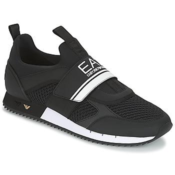 Cipők Férfi Rövid szárú edzőcipők Emporio Armani EA7 BLACK & WHITE U Fekete