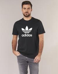 Ruhák Férfi Rövid ujjú pólók adidas Originals TREFOIL T SHIRT Fekete