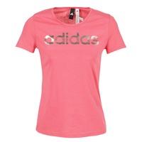 Ruhák Női Rövid ujjú pólók adidas Performance FOIL LINEAR Rózsaszín