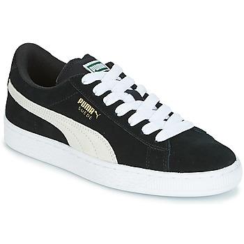 Cipők Gyerek Rövid szárú edzőcipők Puma SUEDE JR Fekete  / Fehér