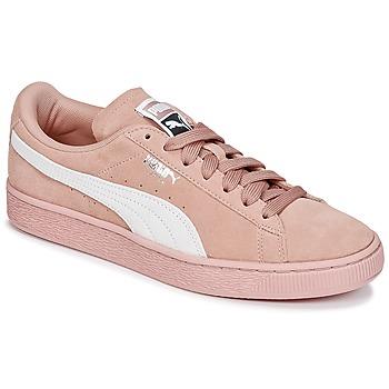 Cipők Női Rövid szárú edzőcipők Puma SUEDE CLASSIC W'S Rózsaszín / Fehér