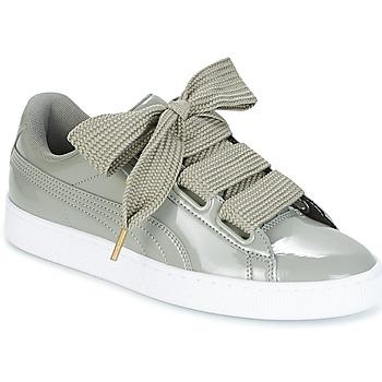 Cipők Női Rövid szárú edzőcipők Puma BASKET HEART PATENT W'S Szürke