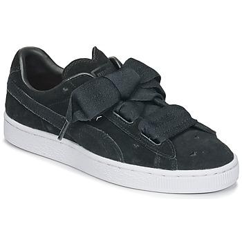 Cipők Lány Rövid szárú edzőcipők Puma SUEDE HEART VALENTINE JR Fekete