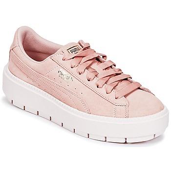 Cipők Női Rövid szárú edzőcipők Puma SUEDE PLATFORM TRACE W'S Bézs
