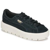 Cipők Női Rövid szárú edzőcipők Puma SUEDE PLATFORM TRACE W'S Fekete  / Fehér
