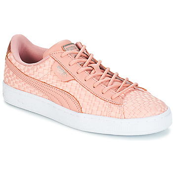 Cipők Női Rövid szárú edzőcipők Puma BASKET SATIN EP WN'S Rózsaszín
