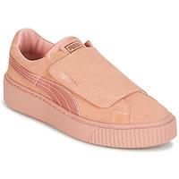 Cipők Női Rövid szárú edzőcipők Puma PLATFORMSTRAP SATIN EP W'S Rózsaszín