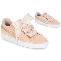 Cipők Női Rövid szárú edzőcipők Puma SUEDE HEART LUNALUX W'S Rózsaszín