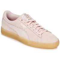 Cipők Női Rövid szárú edzőcipők Puma SUEDE CLASSIC BUBBLE W'S Rózsaszín