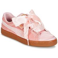 Cipők Női Rövid szárú edzőcipők Puma BASKET HEART VS W'N Rózsaszín