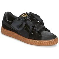 Cipők Női Rövid szárú edzőcipők Puma BASKET HEART VS W'N Fekete