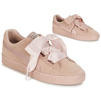 Cipők Női Rövid szárú edzőcipők Puma W SUEDE HEART EP Rózsaszín