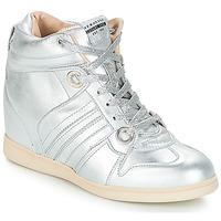 Cipők Női Magas szárú edzőcipők Serafini MANHATTAN Ezüst