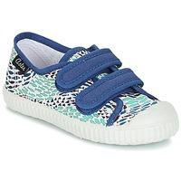 Cipők Fiú Rövid szárú edzőcipők Aster MICKY Fehér / Kék