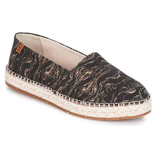Cipők Női Gyékény talpú cipők El Naturalista SEAWEED CANVAS Fekete  / Szürke