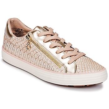Cipők Női Rövid szárú edzőcipők S.Oliver BOOMBO Rózsaszín / Arany