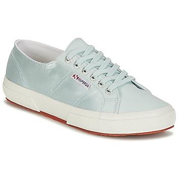 Cipők Női Rövid szárú edzőcipők Superga 2750 SATIN W Kék / Ezüst