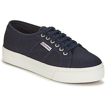 Cipők Női Rövid szárú edzőcipők Superga 2730 COTU Tengerész / Fehér
