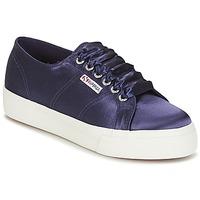 Cipők Női Rövid szárú edzőcipők Superga 2730 SATIN W Tengerész