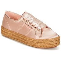 Cipők Női Rövid szárú edzőcipők Superga 2730 SATIN COTMETROPE W Rózsaszín
