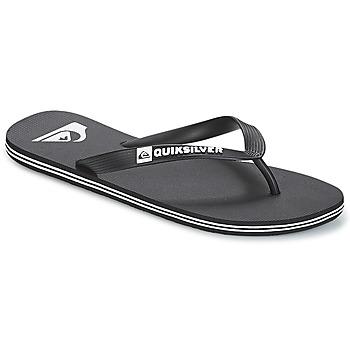 Cipők Férfi Lábujjközös papucsok Quiksilver MOLOKAI M SNDL XKKW Fekete