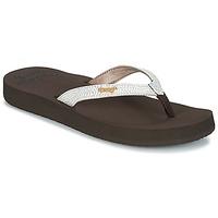 Cipők Női Lábujjközös papucsok Reef STAR CUSHION SASSY Barna / Fehér