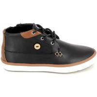 Cipők Gyerek Magas szárú edzőcipők Faguo Wattle Leather BB Noir Fekete