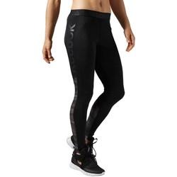 Ruhák Női Legging-ek Reebok Sport Workout Show Mesh Logo Fekete