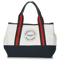 Táskák Női Bevásárló szatyrok / Bevásárló táskák Superdry BAYSHORE BEACH TOTE Fehér / Tengerész / Piros