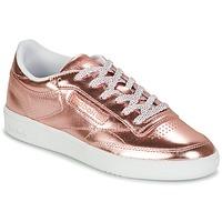 Cipők Női Rövid szárú edzőcipők Reebok Classic CLUB C 85 S SHINE Rózsaszín / Fémes