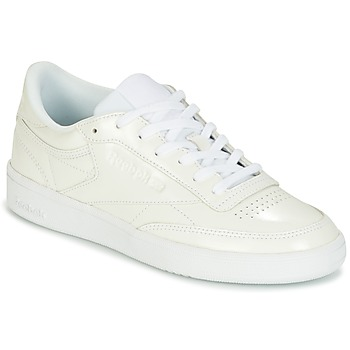 Cipők Női Rövid szárú edzőcipők Reebok Classic CLUB C 85 PATENT Fehér