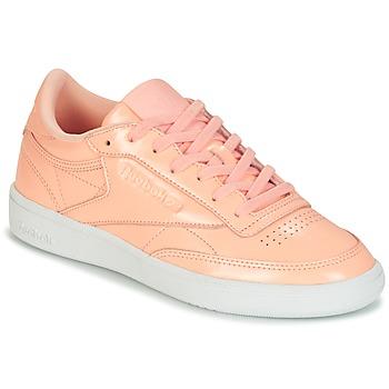 Cipők Női Rövid szárú edzőcipők Reebok Classic CLUB C 85 PATENT Rózsaszín