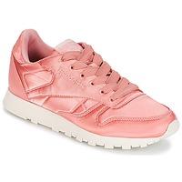 Cipők Női Rövid szárú edzőcipők Reebok Classic CLASSIC LEATHER SATIN Rózsaszín