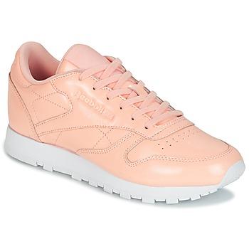 Cipők Női Rövid szárú edzőcipők Reebok Classic CLASSIC LEATHER PATENT Rózsaszín