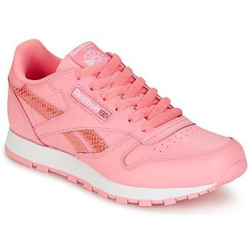 Cipők Lány Rövid szárú edzőcipők Reebok Classic CLASSIC LEATHER SPRING Rózsaszín