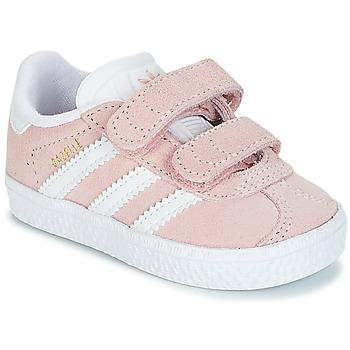 Cipők Lány Rövid szárú edzőcipők adidas Originals GAZELLE CF I Rózsaszín