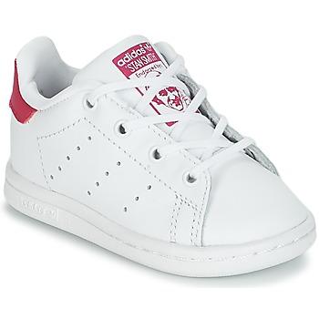 Cipők Lány Rövid szárú edzőcipők adidas Originals STAN SMITH I Fehér / Rózsaszín