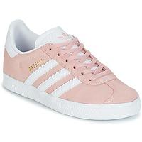 Cipők Lány Rövid szárú edzőcipők adidas Originals GAZELLE C Rózsaszín