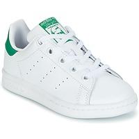 Cipők Gyerek Rövid szárú edzőcipők adidas Originals STAN SMITH C Fehér / Zöld