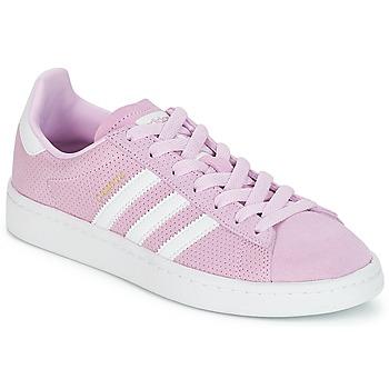 Cipők Lány Rövid szárú edzőcipők adidas Originals CAMPUS J Rózsaszín