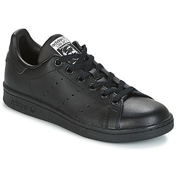 Cipők Gyerek Rövid szárú edzőcipők adidas Originals STAN SMITH J Fekete