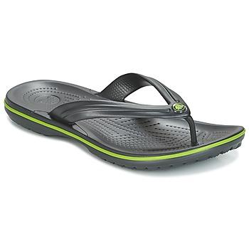 Cipők Lábujjközös papucsok Crocs CROCBAND FLIP Fekete  / Zöld