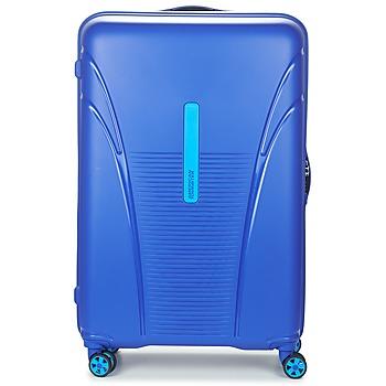 Táskák Keményfedeles bőröndök American Tourister SKYTRACER 77CM 4R Kék