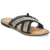 Cipők Női Papucsok Moony Mood IRTA Fekete  / Ezüst