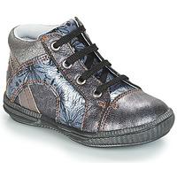 Cipők Lány Magas szárú edzőcipők GBB ROSETTA Ezüst / Kék
