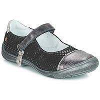 Cipők Lány Balerina cipők / babák GBB RIKA Fekete  / Ezüst