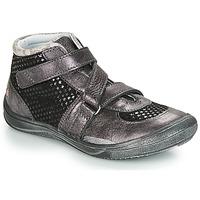 Cipők Lány Magas szárú edzőcipők GBB RIQUETTE Fekete  / Ezüst