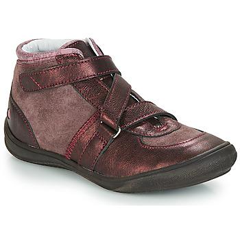 Cipők Lány Magas szárú edzőcipők GBB RIQUETTE Barna / Bronz