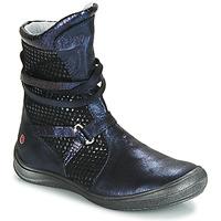 Cipők Lány Városi csizmák GBB ROSANA Kék / Fekete