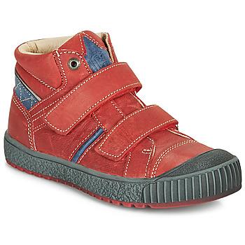 Cipők Fiú Magas szárú edzőcipők Catimini RAIFORT Piros